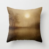 aelwen Throw Pillows featuring From the morning by Viviana Gonzalez