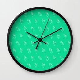 F ((emerald)) Wall Clock
