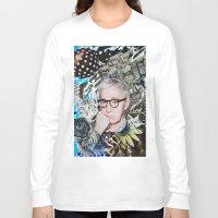 woody allen Long Sleeve T-shirts featuring Woody Allen by John Turck