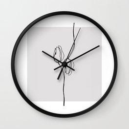 Ink Flowers 2 Wall Clock