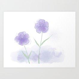 Blossoming Purple Art Print