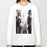 cuba Long Sleeve T-shirts featuring Old Downtown Havana Cuba by Rafael Salazar