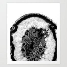 Gray Black White Agate Glitter Glamor #1 #gem #decor #art #society6 Kunstdrucke