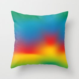 Abstract Colorful Aurora Throw Pillow