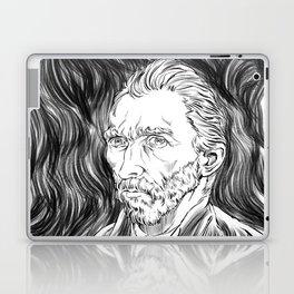 Van Gogh in black Laptop & iPad Skin