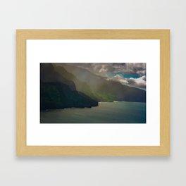 Na Pali Coast Mist, Kaua'i, Hawai'i Framed Art Print