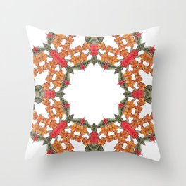Embroidered Pattern Throw Pillow