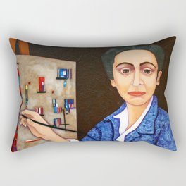 M. Helena Vieira da Silva - dialogue between abstraction and figuration Rectangular Pillow