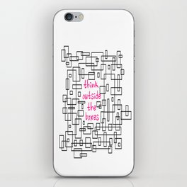 Black and White Boxes iPhone Skin