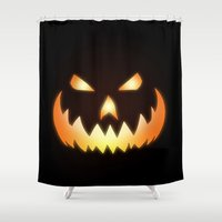 halloween Shower Curtains featuring Halloween by Nicklas Gustafsson