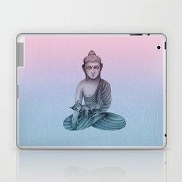 Buddha with cat1 Laptop & iPad Skin