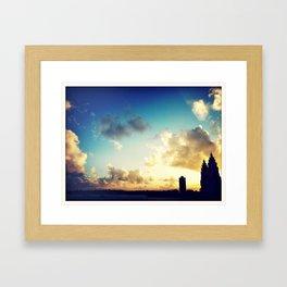 Harbour Skies Framed Art Print