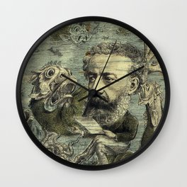 Vintage Jules Verne Periodical Cover Wall Clock