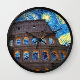 Colosseo Starry Night Wall Clock