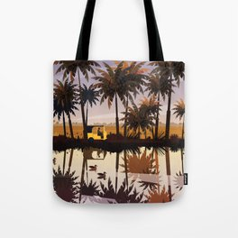 Allepey backwaters ft. Tuktuk Tote Bag