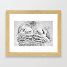 Covering Up Framed Art Print