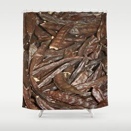 Harvested Carob Pods - Haripur Shower Curtain