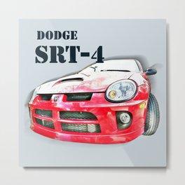Red Dodge SRT-4 Car Metal Print