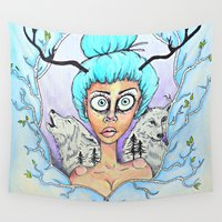into the wild Wall Tapestries featuring WILD  by BDillabough