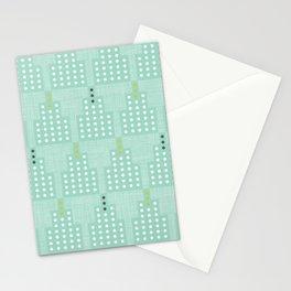 Art Deco Towers Aqua Stationery Cards