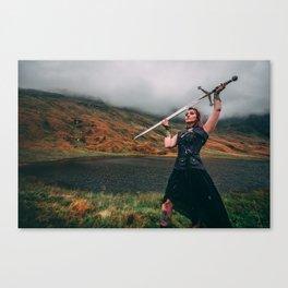 Shield-Maiden & Claymore Canvas Print