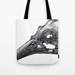 Bird Skeleton Tote Bag