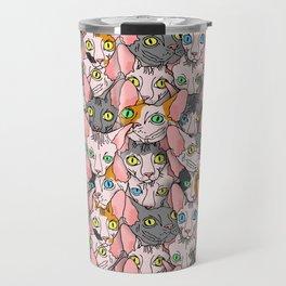 diverse sphynx cat allover print Travel Mug