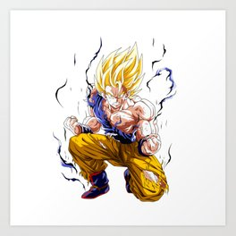 Goku Super Saiyan 2 Art Print