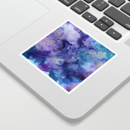 Abstract Watercolor and Ink Sticker