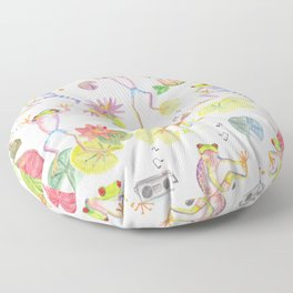 Party frogs Floor Pillow