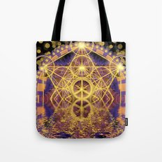 Geometry Peace Reflections Tote Bag