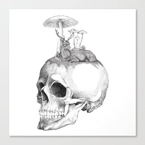 Mushroom B&W Canvas Print
