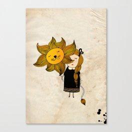 Leo Girl Canvas Print