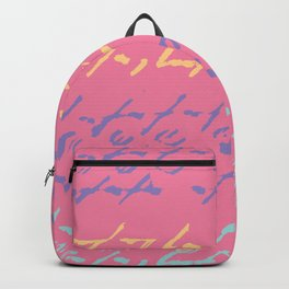 Pink Ethnic Boho Painted Pattern Backpack