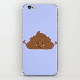 Meditating poo iPhone Skin