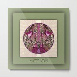 Action Manifestation Mandala No. 4 Metal Print