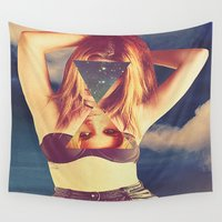 psychedelic Wall Tapestries featuring psychedelic by Dani L.