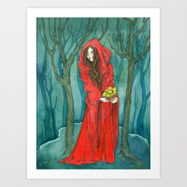 The Red Witch Art Print