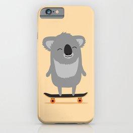 Cute cartoon koala skateboarding iPhone Case