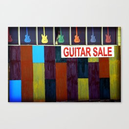 Guitar Sale Canvas Print