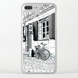 The Bicycle - Pen and ink drawing Clear iPhone Case
