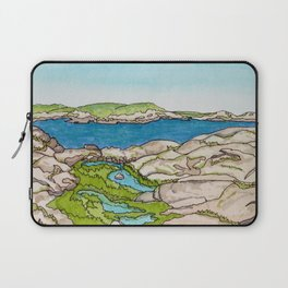 Peggy's Cove Watercolour Painting Backside Laptop Sleeve