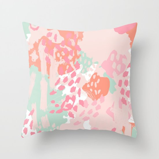 Modern Art Pillow : Brinley - abstract painting minimal modern art print home decor must haves Throw Pillow by ...