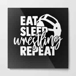 Wrestling Metal Print