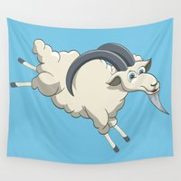 goat Wall Tapestries featuring Goat by Emir Simsek
