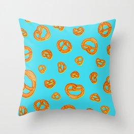 Pretzel love colorful pop pattern Throw Pillow