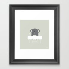The Happy Dinner Framed Art Print
