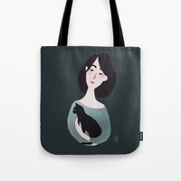 aurora Tote Bags featuring Aurora by Charline Denys