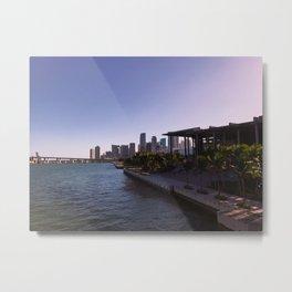 Partial Miami Skyline and Perez Art Museum Metal Print