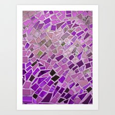 Friday Night Mosaic Art Print